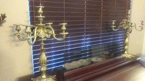 Vintage Set of Brass Candelabras for Sale in Menifee, CA