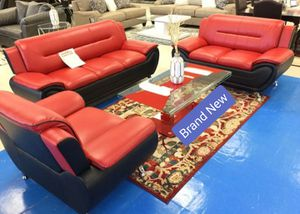 BRAND NEW 🎊 Enna/Red/ Black Sofa&Loveseat for Sale in Jessup, MD