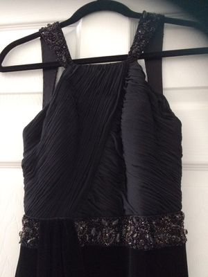 Evening Gown (Black Velvet & Chiffon for Sale in Suwanee, GA