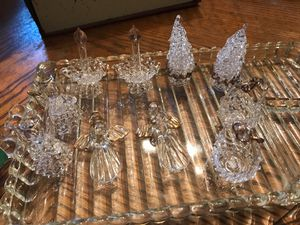 Collectible glass ornaments with Gold trim for Sale in Baltimore, MD
