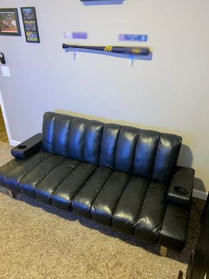 Leather Black Futon for Sale in Peoria, AZ