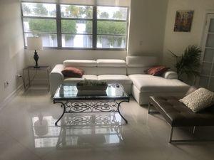 White leather Modani couch for Sale in Miami, FL