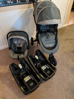Baby Jogger City Mini GT Travel System w/ extra base for Sale in Peoria, IL
