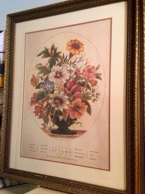 """Antique print in 35"""" x 27"""" glass/ornate frame for Sale in New York, NY"""