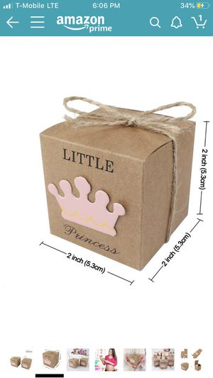 27 Baby Shower Princess Favor Boxes for Sale in Houston, TX