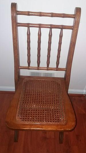 Folding wood chair for Sale in Woodbridge, VA