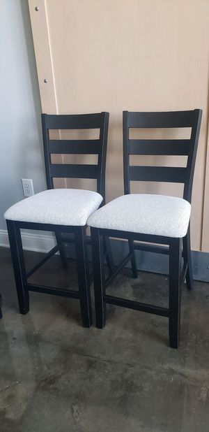 Black Wooden Dining Chairs (2) for Sale in Washington, DC