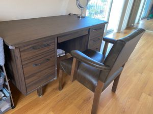 Desk writing table (with or without chair) for Sale in Los Angeles, CA