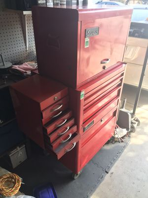 Snap on vintage tool box with side drawers for Sale in San Juan Capistrano, CA