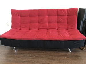 Couch/Futon red suede(Brand New) for Sale in Los Angeles, CA