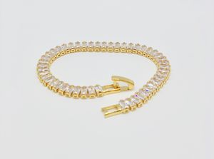 Bracelet Gold Plated Baguette Cubic Zirconia for Sale in Kissimmee, FL