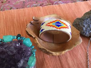 Handmade, beaded on leather, it's a. bracelet. New it was 35.00 get it for 10.00 today for Sale in Apache Junction, AZ