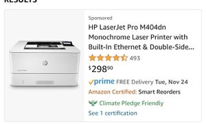 HP laser jet. for Sale in Tehachapi, CA
