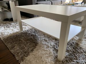 Coffee Table w/ Lower Shelf (White) for Sale in Washington, DC