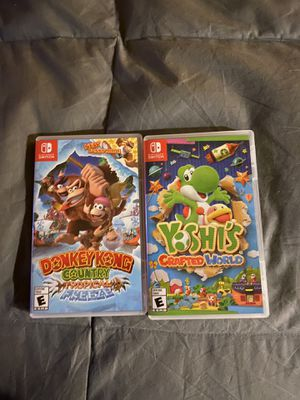 Switch games yoshi and donkey Kong for Sale in Hemet, CA