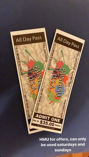 Paintball tickets for Sale in Boston, MA