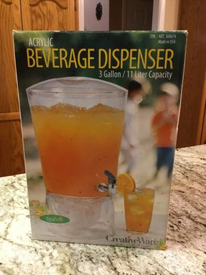Acrylic Beverage Dispenser 3 Gallons for Sale in Turlock, CA