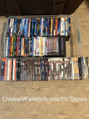 127 Children's/Family and Anime and TV series DVD and Blu-Rays (bulk lot) for Sale in Grayson, GA