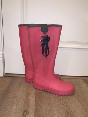 Pink Jcrew rain boots size 7 for Sale in Westlake Village, CA