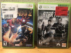 XBOX 360 Iron Man 2 & Star Trek games for Sale in Poway, CA