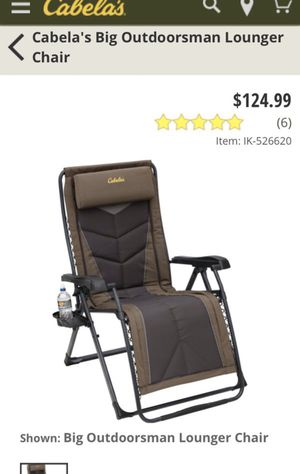 Cabelas folding lounge chair for Sale in Federal Way, WA