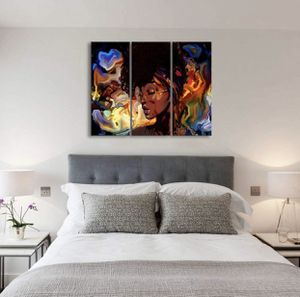 Brand New | Colorful Abstract African American Women Canvas Wall Art Decor Pictures Posters Black Girl Wall Art Decor Canvas Posters For bedroom Livi for Sale in Sparks Glencoe, MD