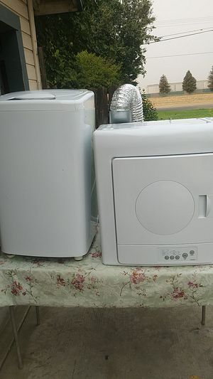 Haier mini apartment or trailer camper washer and dryer set for Sale in Visalia, CA