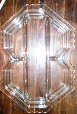 Vintage pressed glass five part serving tray for Sale in Tampa, FL