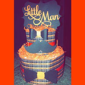 Little Man Diaper Cake for Sale in Richardson, TX