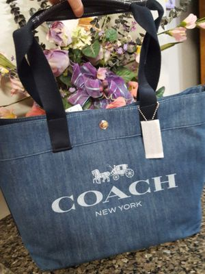 COACH Denim Horse & Carriage Tote NEW for Sale in Charles Town, WV