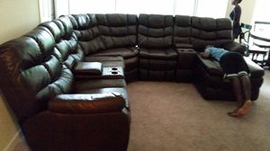 LEATHER SOFA SET for Sale in Adelphi, MD