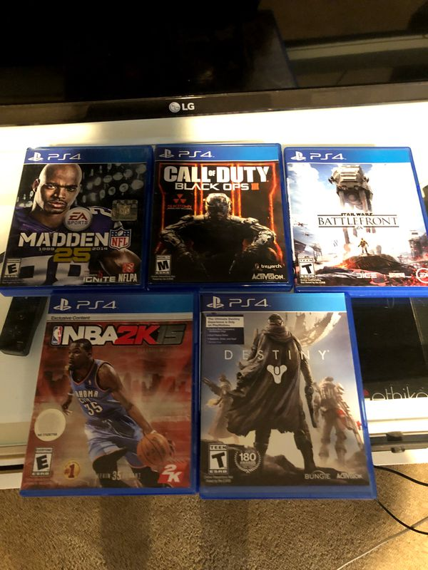 PS4 video game lot 5 games