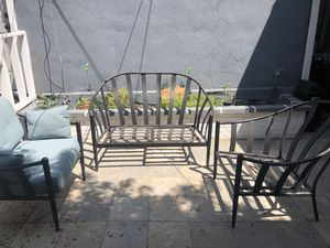 Patio Furniture 3 pieces and small table for Sale in Chino Hills, CA