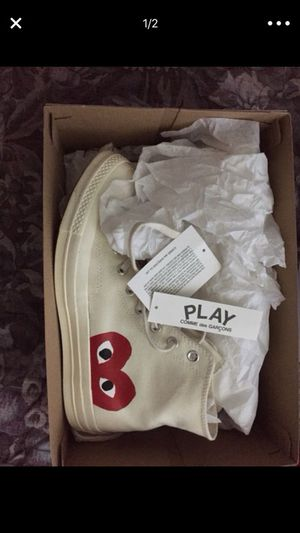 CDG PLAY CONVERSE SIZE 10 LIKE NEW for Sale in Houston, TX