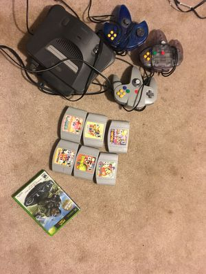 Nintendo 64 console super smash mario party and more for Sale in Towson, MD