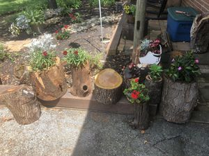 Real wood log planters for Sale in Lancaster, PA