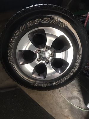 5x Mopar Wheels and 5 Michelin tires Jeep rims for Sale in Chicago, IL