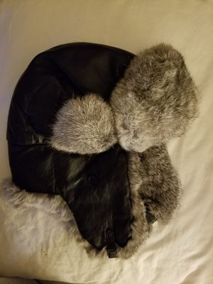 Leather bomber with fur lining for Sale in Midland, PA