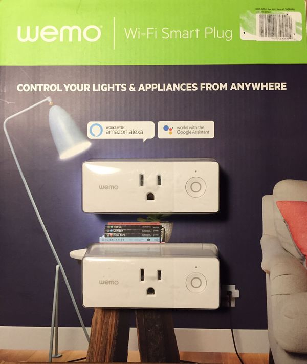 WEMO MINI - WiFi Smart Outlet (2 pk) New and unopened