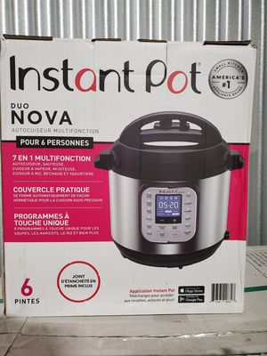 Instant Pot - Duo 6 Quart 7-in-1 Multi-Use Pressure Cooker - brushed stainless steel Model:IP-DUO60 for Sale in Braintree, MA