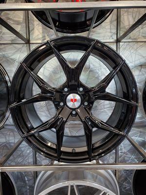 "Glossy black 19"" wheels fits BMW 3 series Cadillac CTS 19x8.5 19x9.5 5x120 +35 rim tire shop for Sale in Phoenix, AZ"