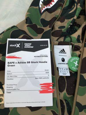 Bape x Adidas Shark Hoodie size S for Sale in Waltham, MA