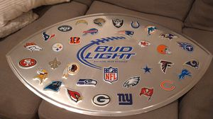 Bud Light NFL football sign for Sale in Dallas, TX