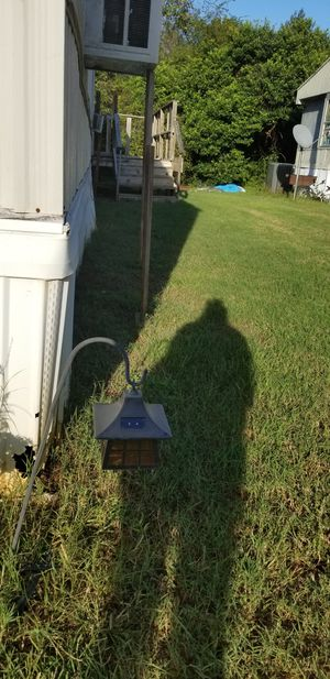 Black iron windmill solar lights , they shine lil windmill on ground for Sale in Prattville, AL