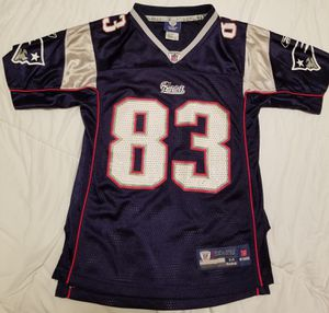 Youth New England Patriots Wes Welker Reebok Jersey, size youth Medium (10-12) for Sale in Cave Creek, AZ