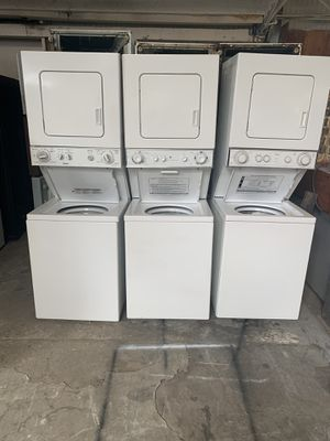 Stackable washer and dryer electric 220v everything is good working condition 90 days warranty delivery and installation for Sale in San Leandro, CA