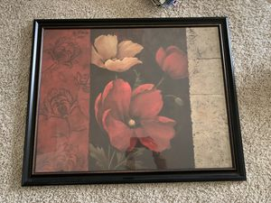 Framed wall art/painting. 30x25 inch for Sale in Cary, NC