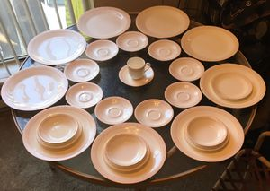 Mikasa 27 pieces of Cag01 Silk Moire Bone China for Sale in Beaverton, OR