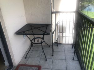 Patio Table & Two Chairs for Sale in Davie, FL