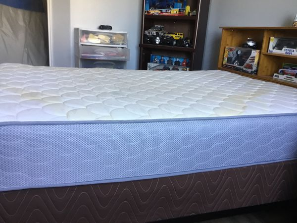 Full size box spring and bedframe